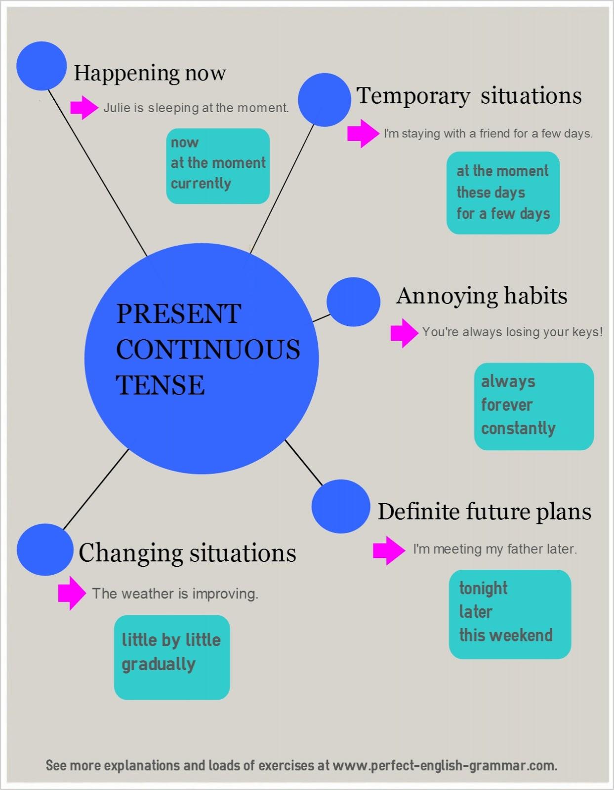 Present Continuous Tense Negative Worksheet