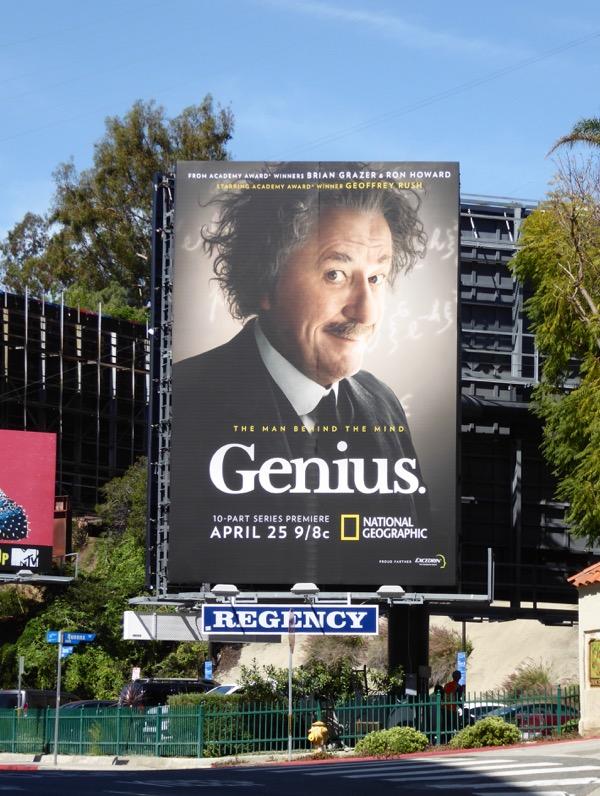 Genius series premiere billboard