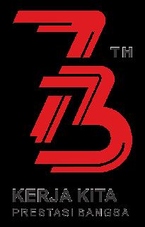 Logo HUT RI Ke 73 png