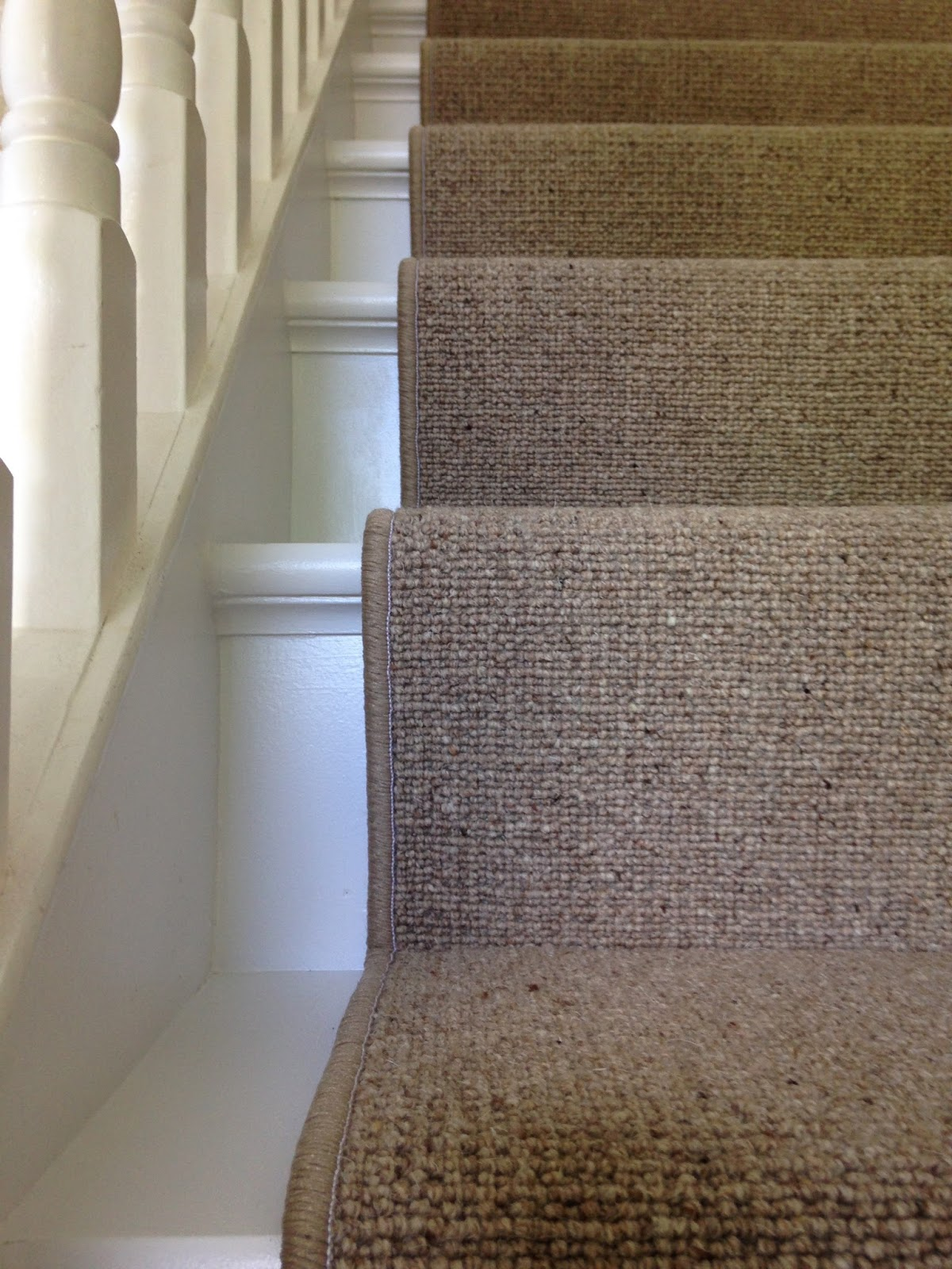 Replacing Broadloom Carpet With A Stair Runner Maison Jen | Seagrass Carpet On Stairs | Gray Wood | Hard Wearing | Grey | Stair Malay Chen Sisal | 80 20 Wool Carpet Stair