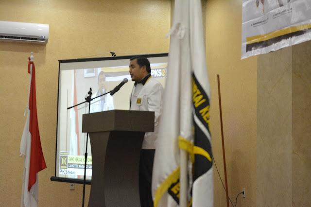 Tutup Rakerda, Ini Pesan Ketua DPW PKS Sumut