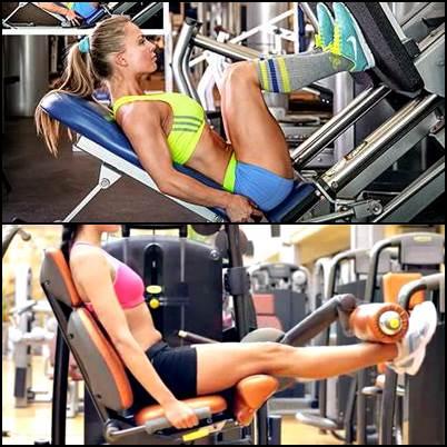 Prensa y extensión cuadríceps mujeres