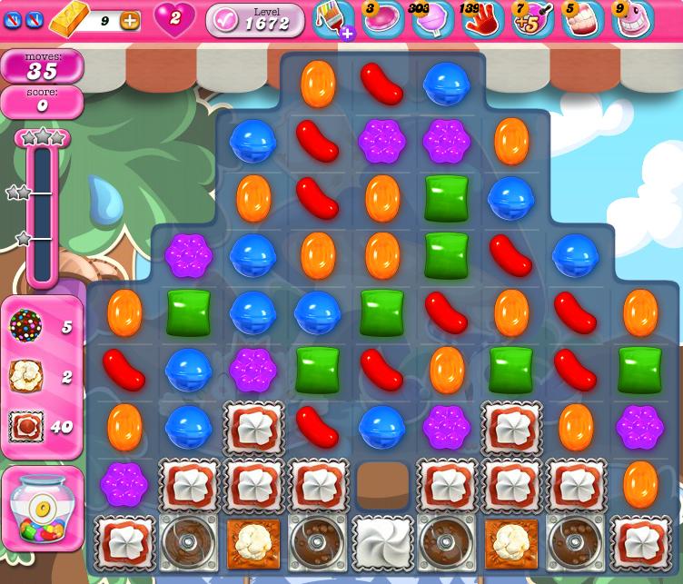 Candy Crush Saga 1672
