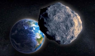 Asteroid 2012 TC4, approaching Earth at around 30,000 mph (14 km/s)
