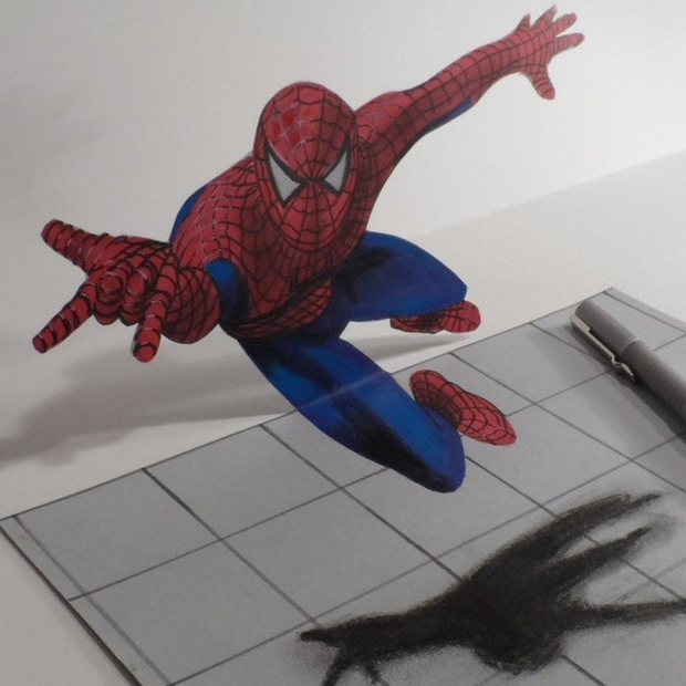 14-Spiderman-Anamorphosis-Sandor-Vamos-3D-Optical-Illusions-Anamorphic-Drawings-Videos-www-designstack-co
