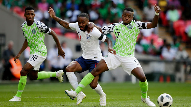 Onazi tackles Sterling in England 2-1 Nigeria World cup friendly