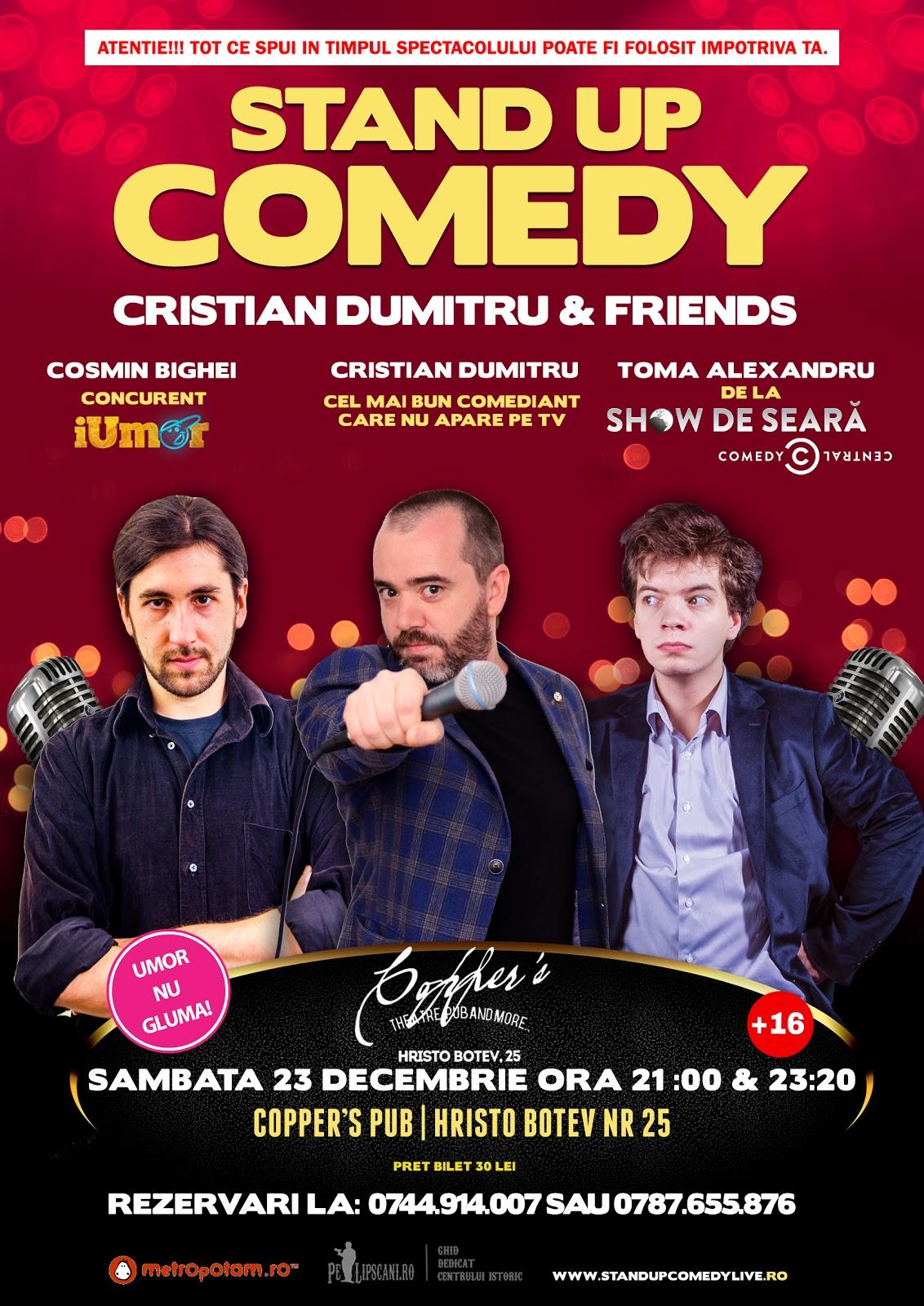 Stand-Up Comedy Bucuresti Sambata 23 Decembrie