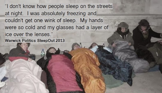 Sleeping Out On The Streets For The Homeless