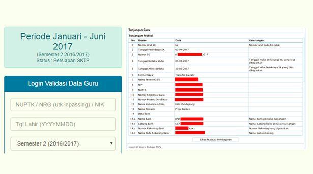 Sudah Terbit SKTP (SK TPG) Guru Tahap 1 Januari - Juni Tahun 2017