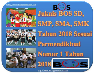 Juknis BOS SD, SMP, SMA, SMK Tahun 2018 Sesuai Permendikbud Nomor 1 Tahun 2018