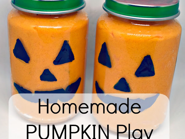 Homemade Pumpkin Play Dough