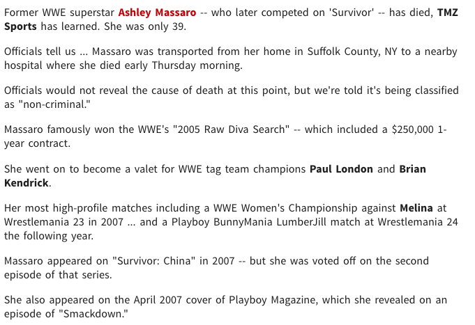 Simple Truth Television: Ex-WWE Superstar Ashley Massaro