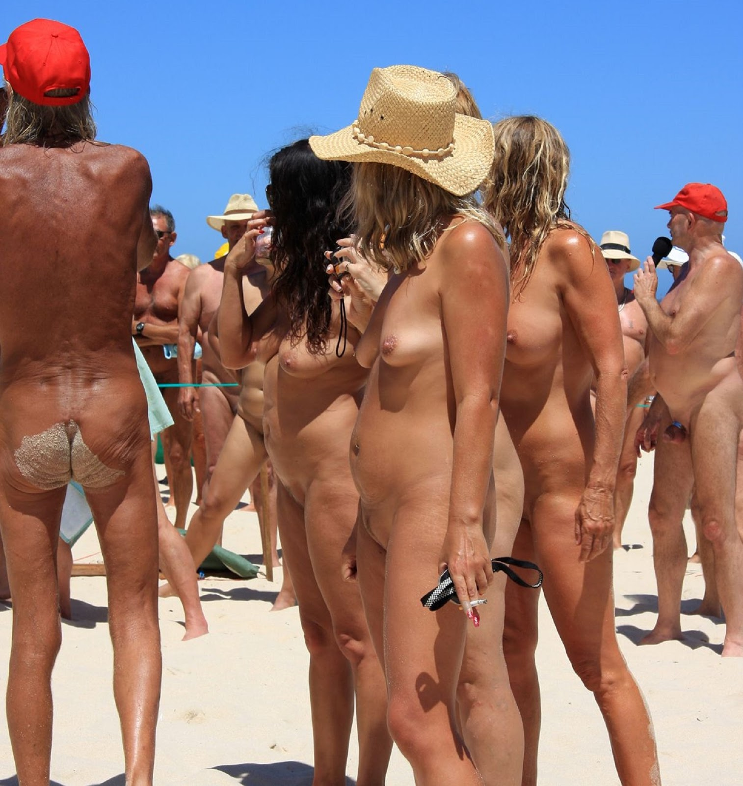 Voyeur beach nudism