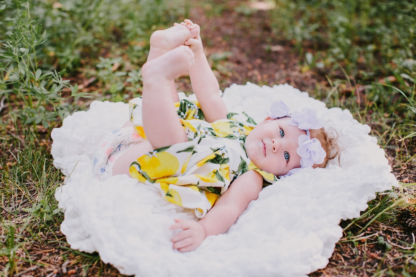 Lunabybaby, Cute Baby, Floral Crown Baby