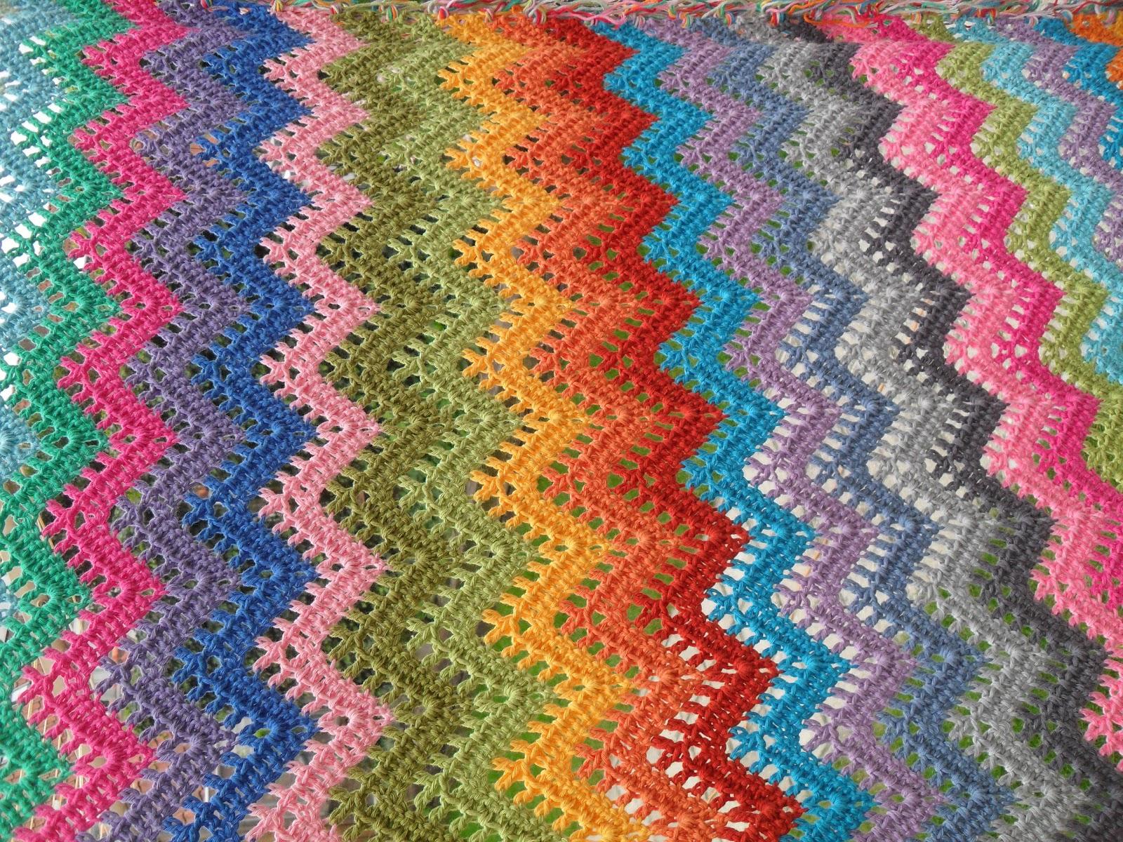 Super Bekend Zigzag Deken Haken Patroon YF83 | Belbin.Info #SL36