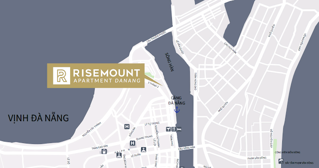 vị trí đắc địa Risemount apartment Đà Nẵng