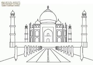 Gambar Sketsa Mewarnai Masjid Terbaru 201708