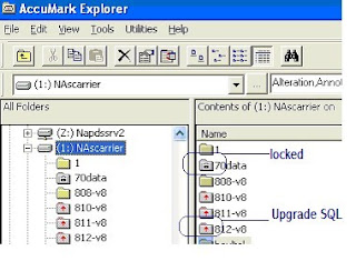 AccuMark V8.2 use  MSDE, SQL 2005 Express