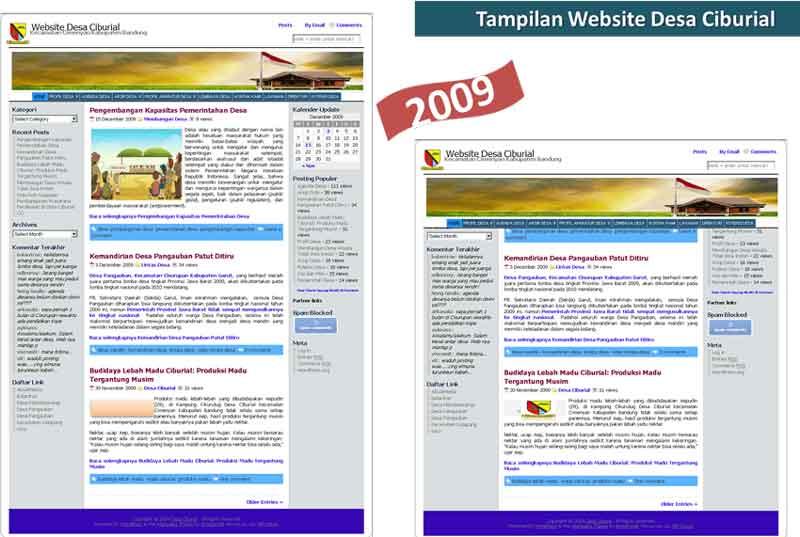 website-desa-ciburial-tampilan-2009