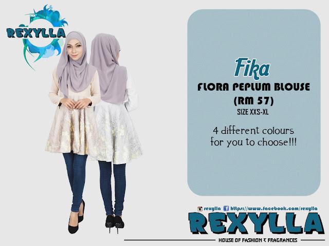 rexylla, flora peplum blouse, flora, peplum, flora peplum, fika collection