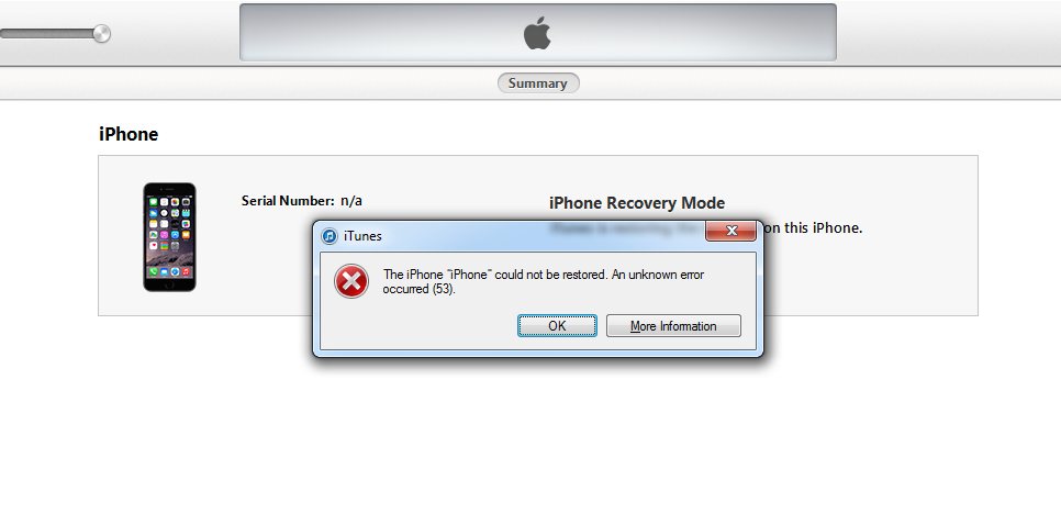 Fix iTunes Error 53
