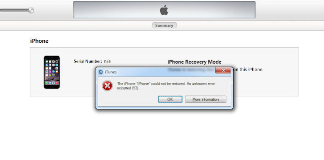 unknown message not found iphone 6 ways to fix itunes error 53 when restoring your iphone 1936