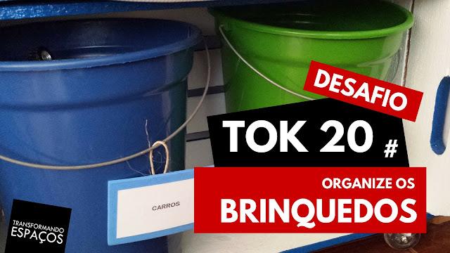 Organize os brinquedos! - Tok 20 | Desafio 52 toks de organização e decor