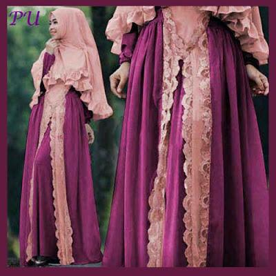 Model baju pesta dari kain renda
