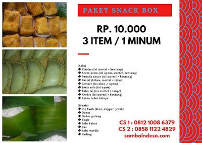 harga aneka snack Bintaro kota Tangerang Selatan