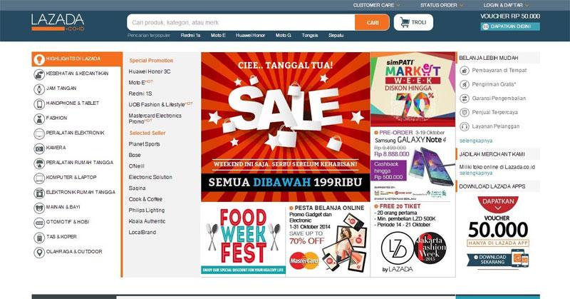 Daftar Tempat Situs Web Belanja Online Resmi Indonesia