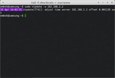 Cek ntp pada server juga, jika berhasil maka akan muncul gambar seperti ini