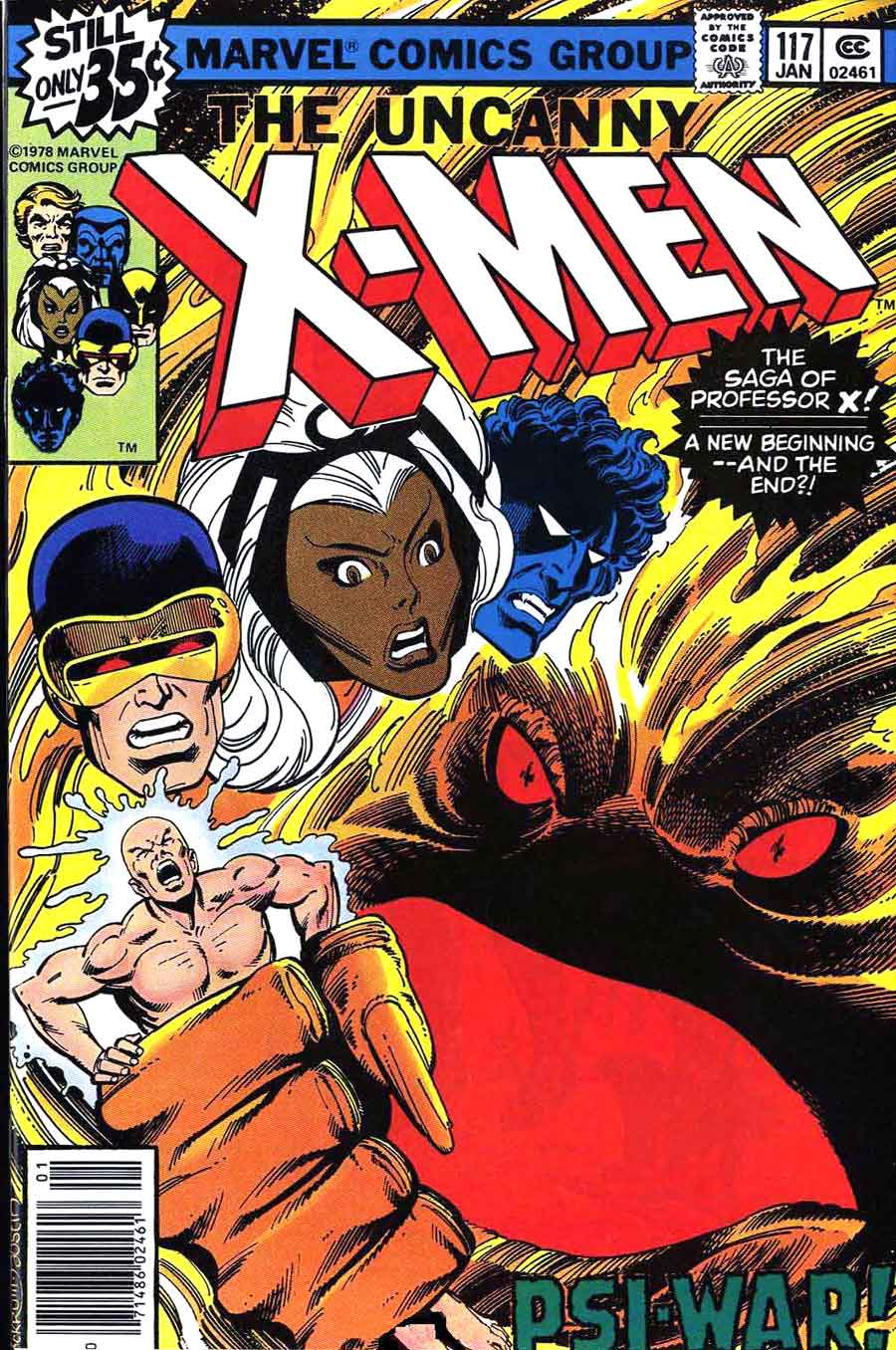 X-men v1 #117 marvel comic book cover art by John Byrne
