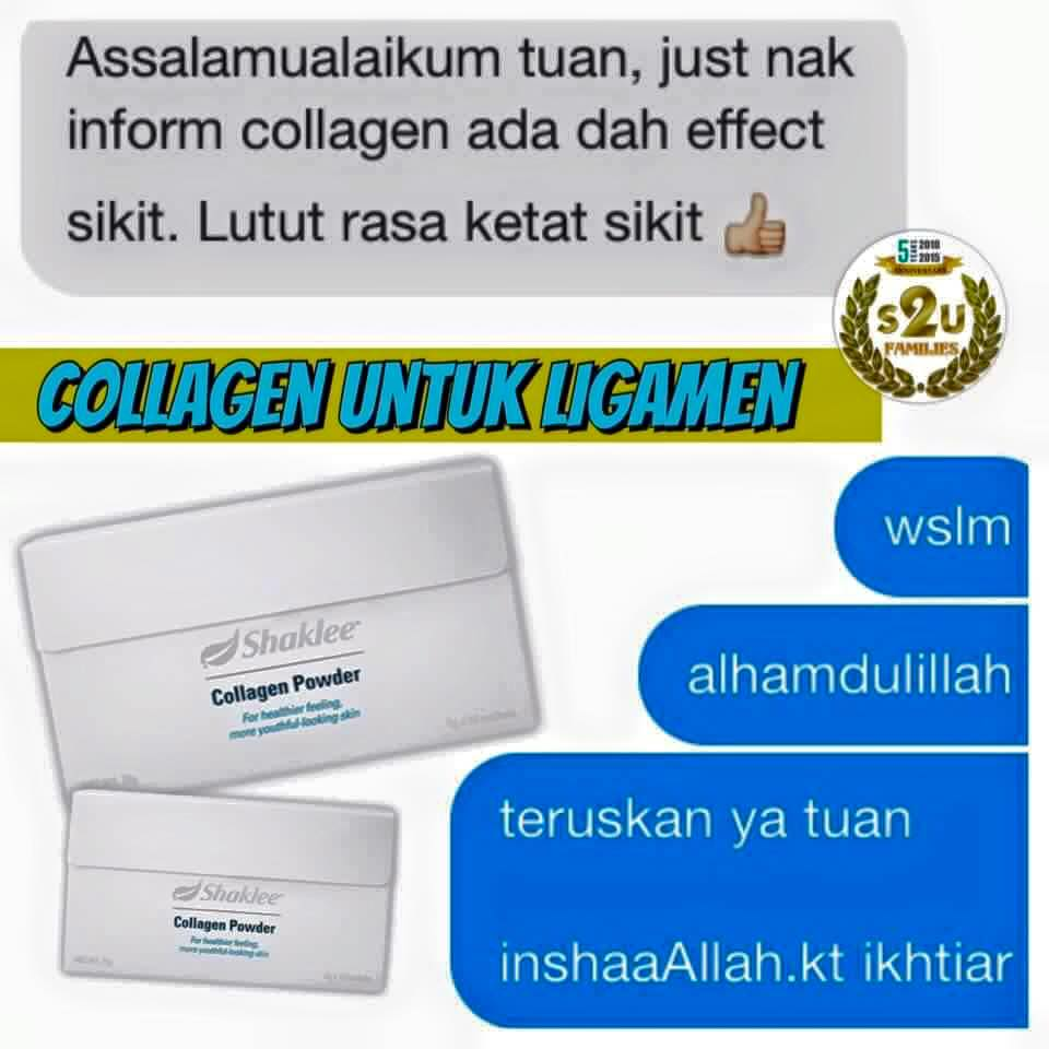 Image result for collagen shaklee testimoni lutut