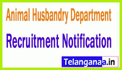 Animal Husbandry Department AHD Recruitment Notification