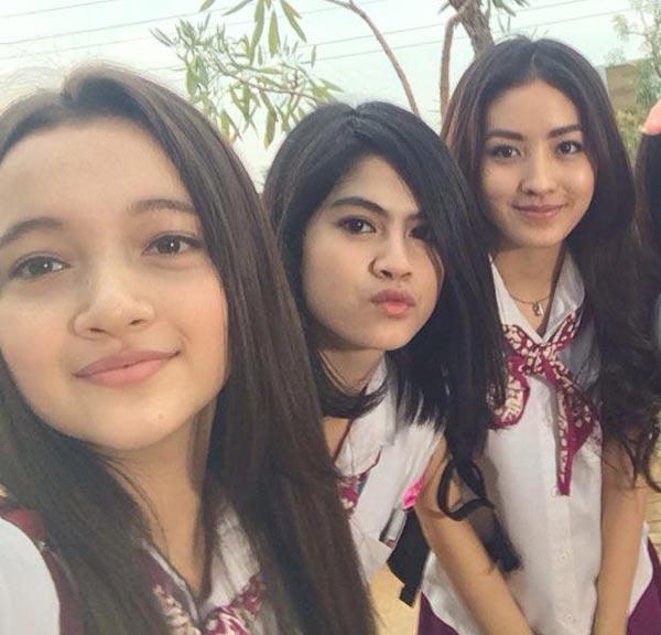 Megan Domani Hana Sraswati dan Natasha Wilona Sinetron Anak Jalanan