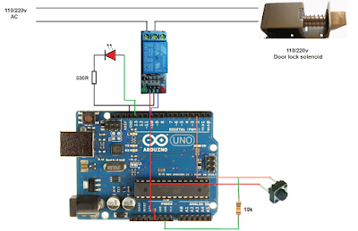 Password lock with only one button switch using Arduino
