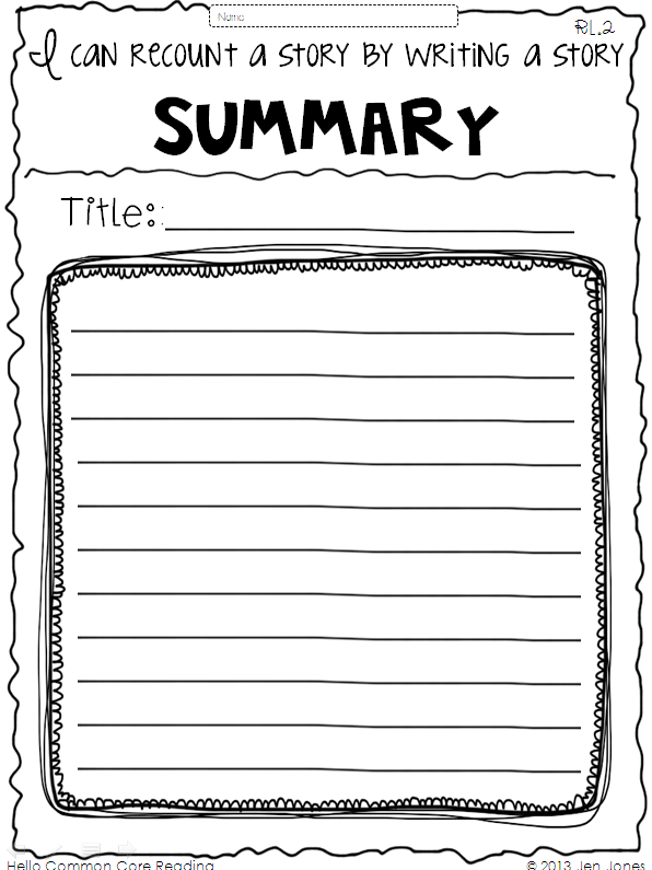 summary writing template