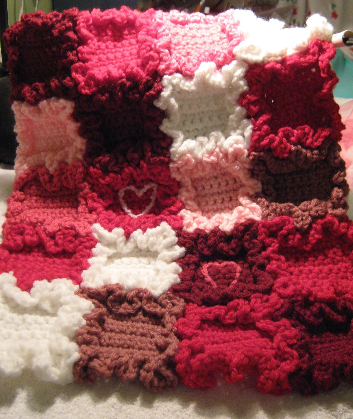 Ergahandmade Crochet Hearts Blanket Free Pattern