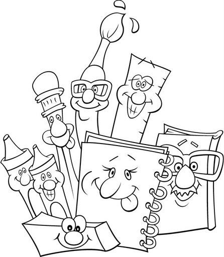 Dibujos Infantiles De Utiles Escolares Para Colorear Imagui