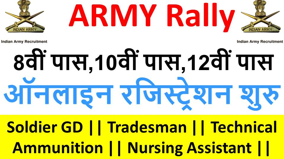 Indian Army Rally 2019 In 8 Districts of Bihar Registration Start on