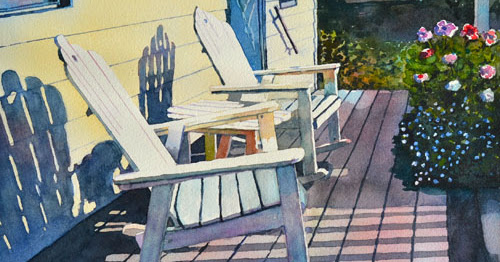 PORCH ROCKERS--another version of a favorite subject