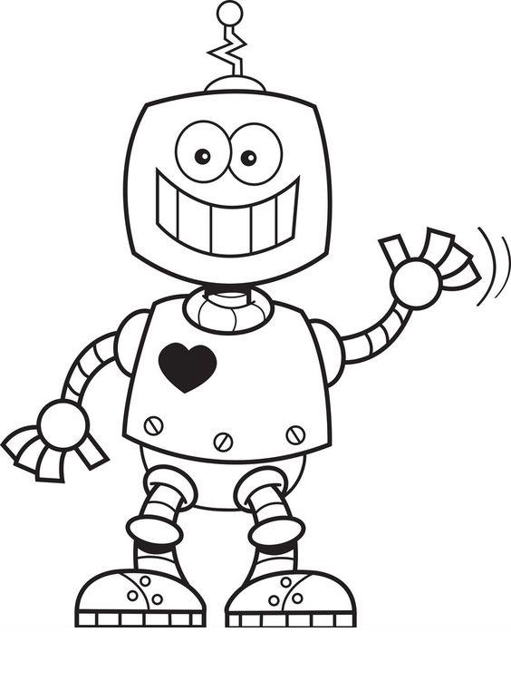 Tranh tô màu Robot 07