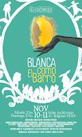 """Afiche obra teatral """"Blanca como el barro"""""""