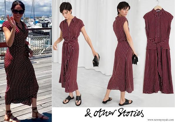 Meghan Markle wore &Other Stories Waist Knot Midi Dress