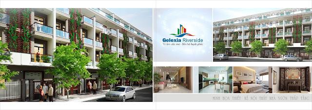 Phối cảnh nhà vườn liền kề Gelexia Riverside thiết kế đẳng cấp