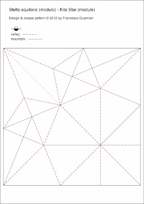 Origami-CP modulo: Stella aquilone - Kite Star by Francesco Guarnieri