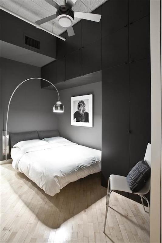 dormitorio con paredes pintadas en negro chicanddeco