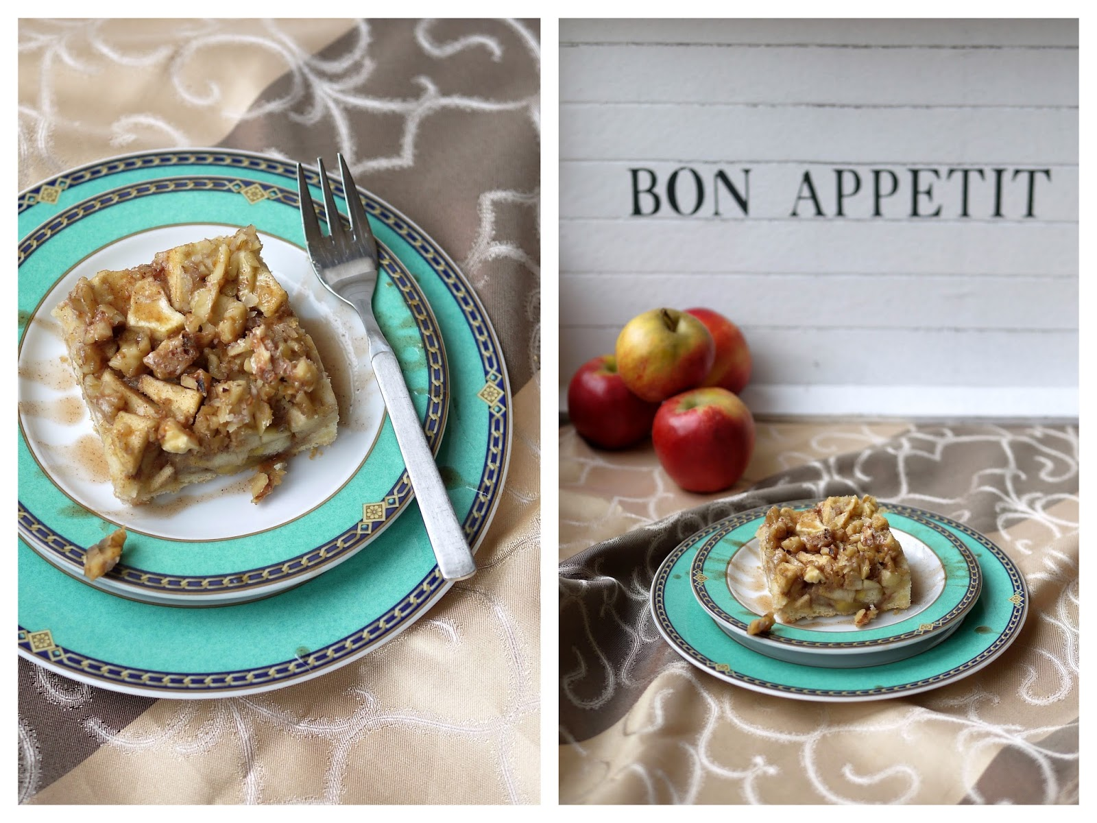 Apfel-Walnuss-Kuchen mit Zimtsirup | Rezept | Backen