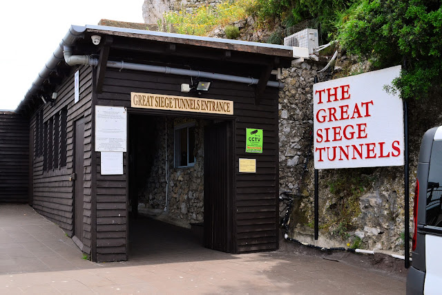 Entrance to the Great Siege Tunnels, a majority of which were excavated by hand between 1782 - 1783 by the British troops.