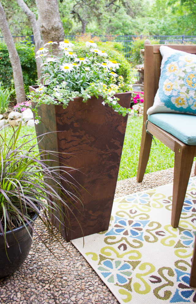 Ella square planter from Home Decorators Collection